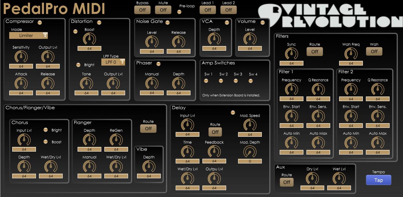Vintage Revolution PedalPro MIDI (v0.1)