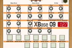 Jomox XBase09 – Performance mode panel
