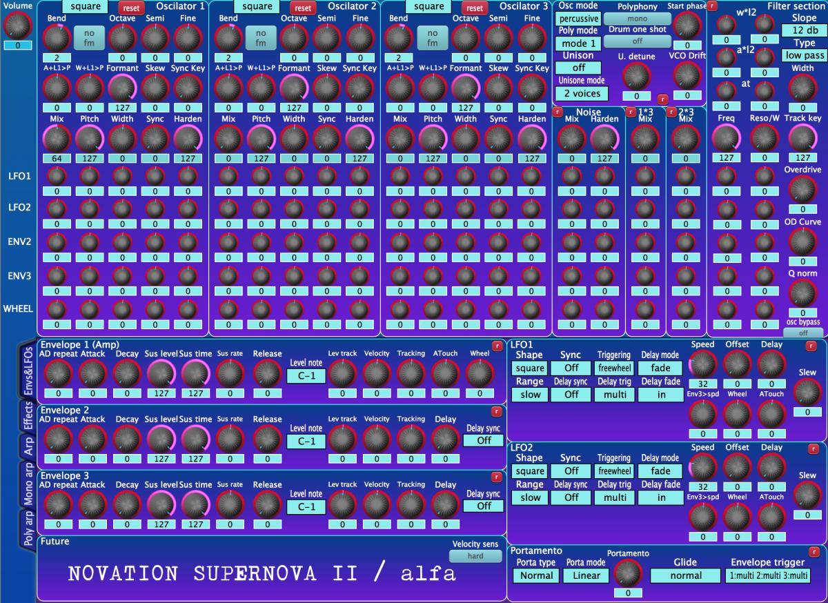 Novation Supernova 2 rack