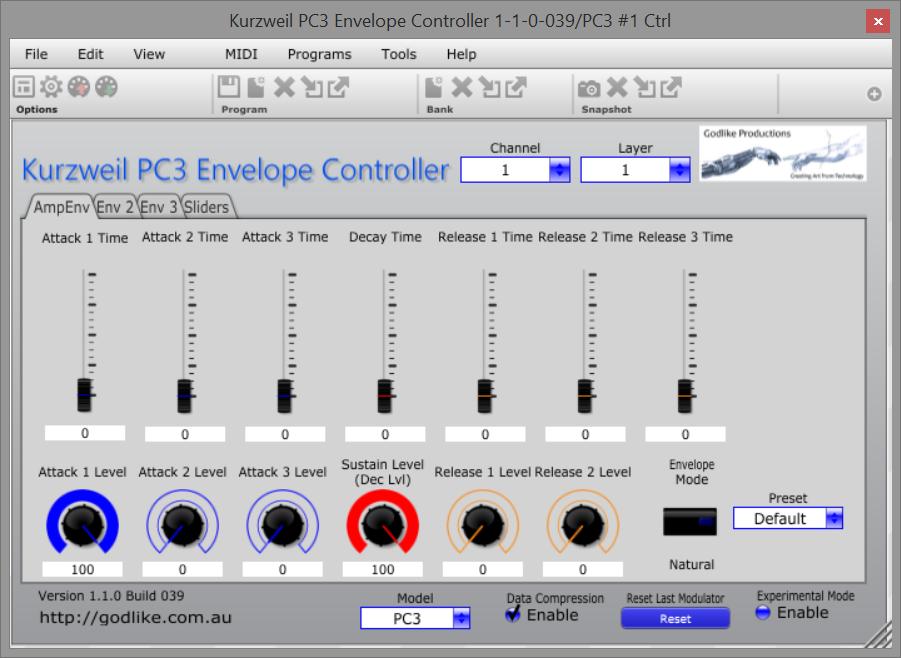 Kurzweil PC3 Envelope Controller