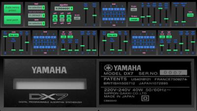 Yamaha DX7 v1.0 panel