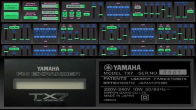 Yamaha TX7 v1.0 panel