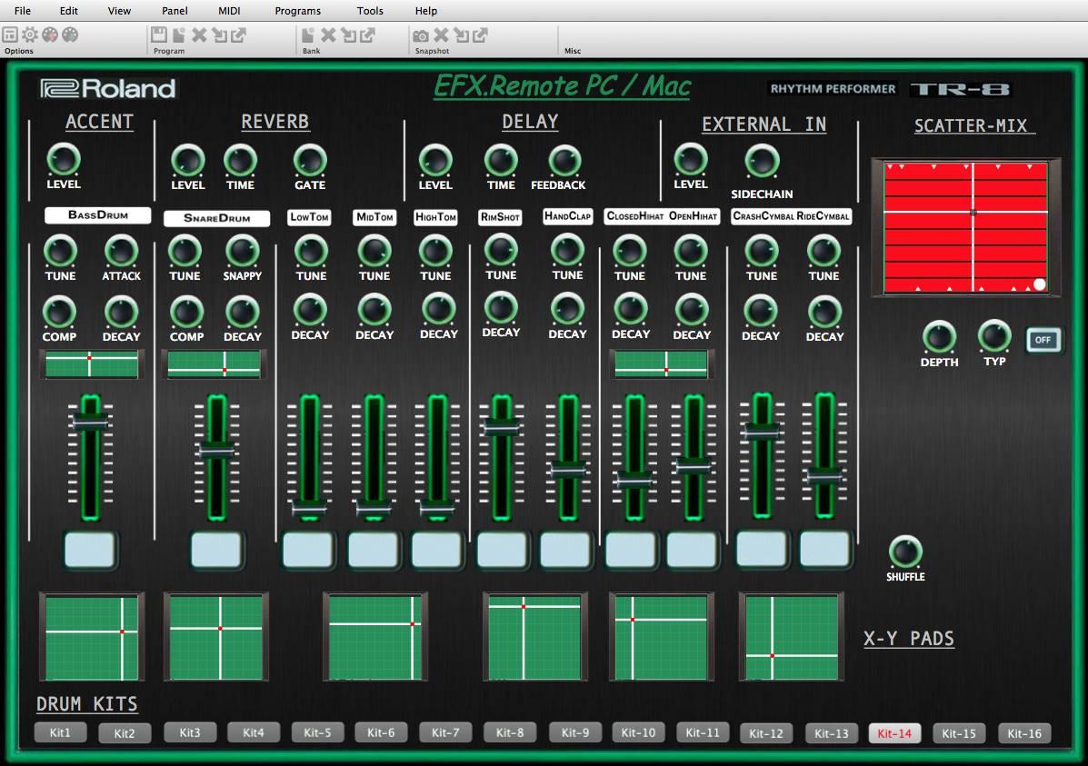 """Roland Aira TR-8 Rhythm Performer – """"Midi Editor """""""