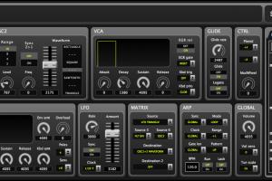 SLIM'XTC V.1.0 – Panel for Moog Slim Phatty