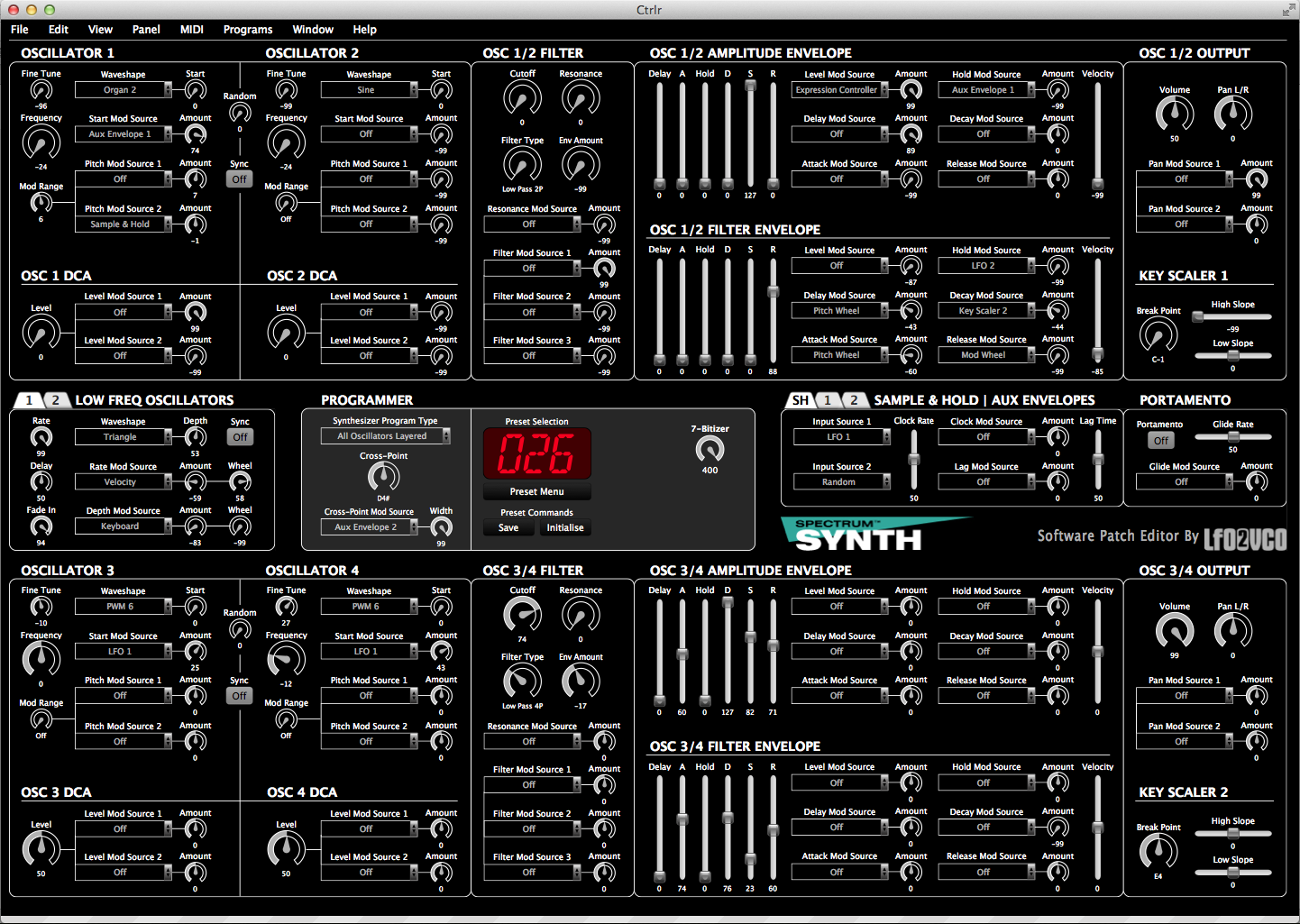 Peavey Spectrum Synth Editor