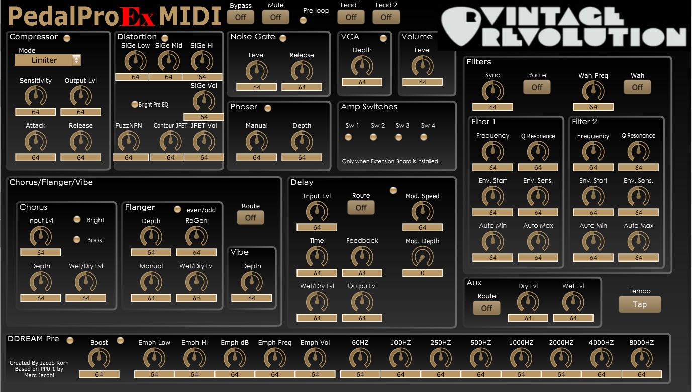 Vintage Revolution PedalPro Ex MIDI (v0.1)