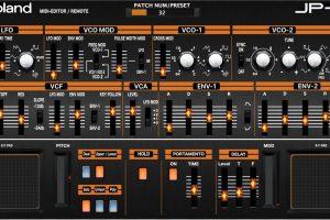 Roland Boutique Synth JP-08 , Midi Editor / Remote