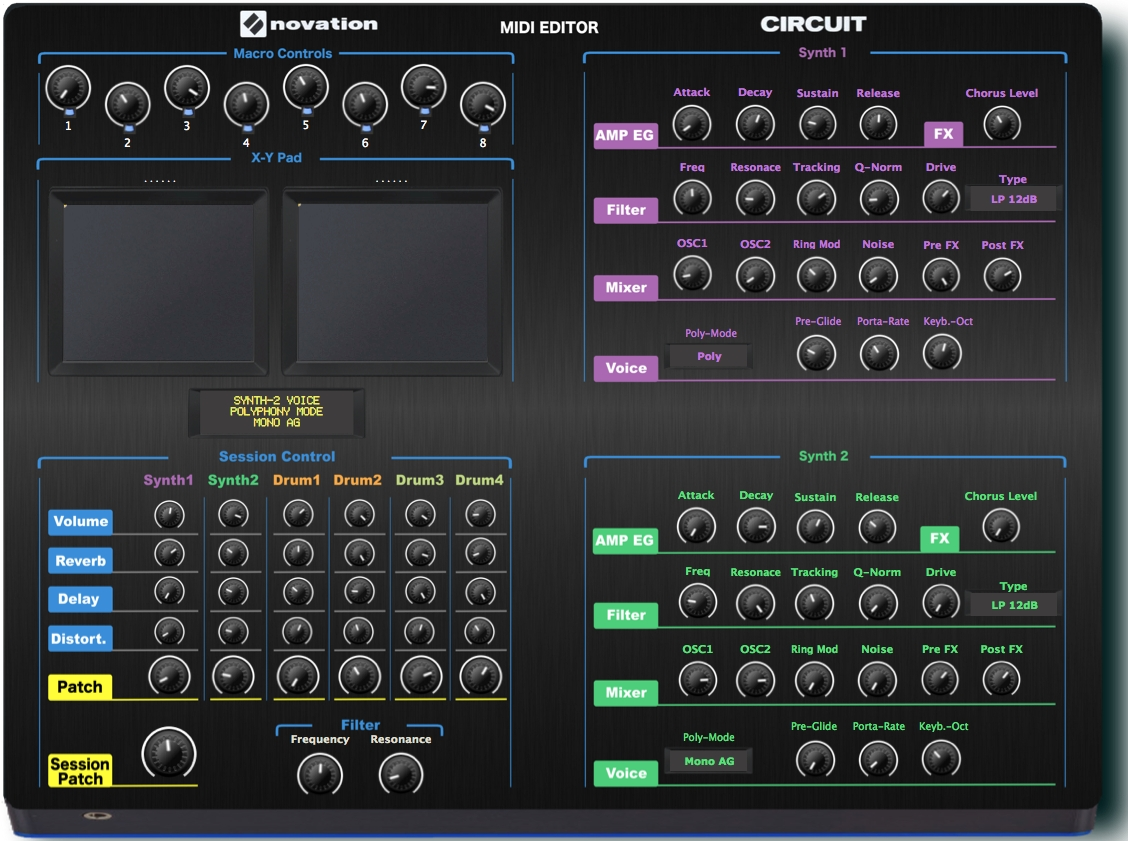 "Novation Circuit ""MIDI EDITOR / REMOTE/ CONTROLLER"""