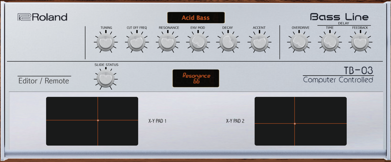 Roland TB-03 Midi Editor Controller — VST / Standalone