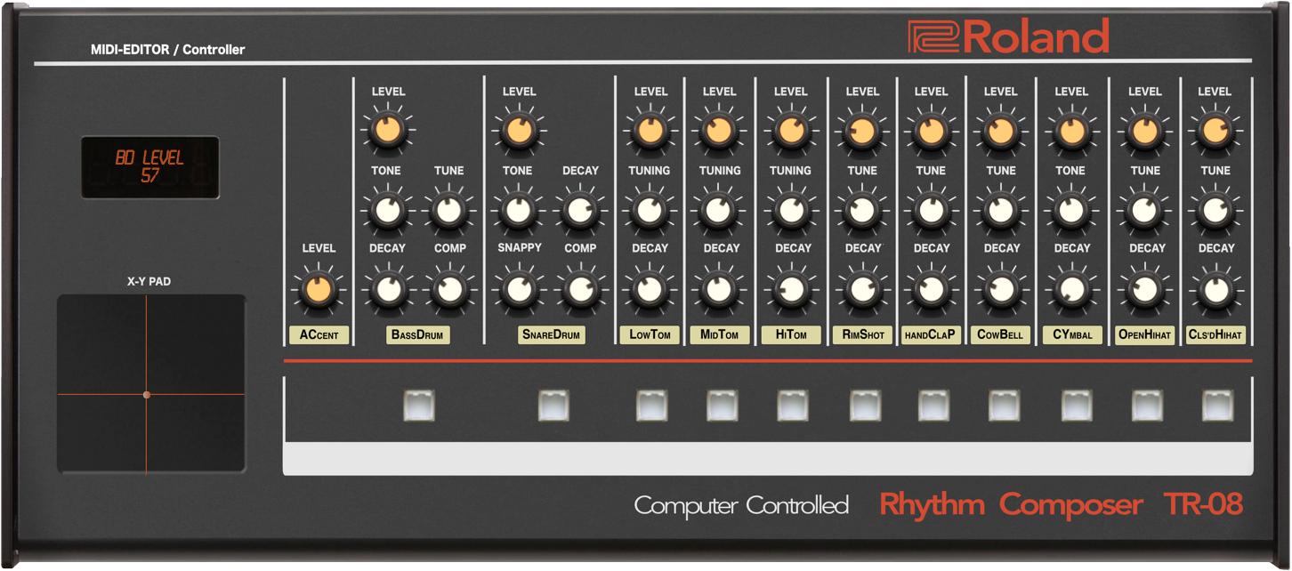 Roland TR-08 Midi Editor Controller — VST / Standalone