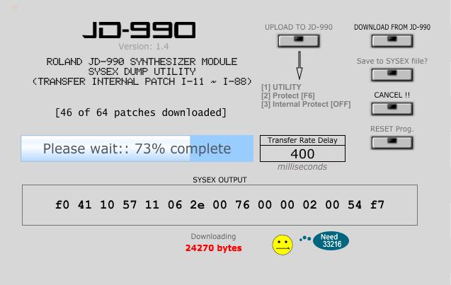 Roland JD-990 Sysex Dump Utility