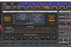 Roland VR09 / VR730 V-Combo EDITOR v1.12 (Windows, MacOSX, Linux)