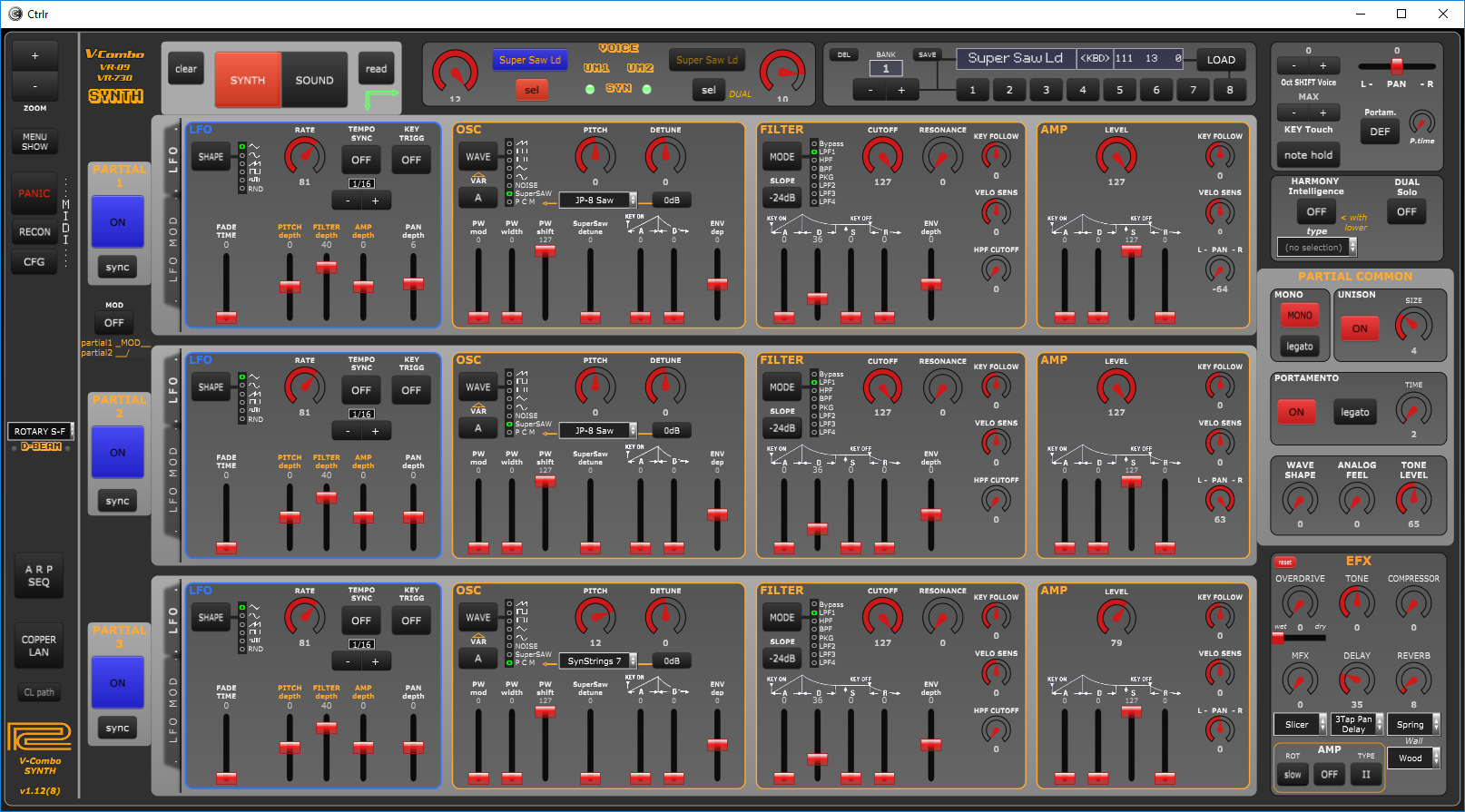 Roland VR09 / VR730 V-Combo SYNTH v1.12 (Windows, MacOSX, Linux)