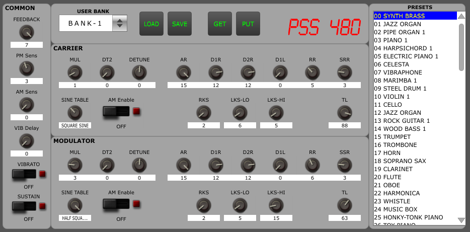 PSS-480 panel