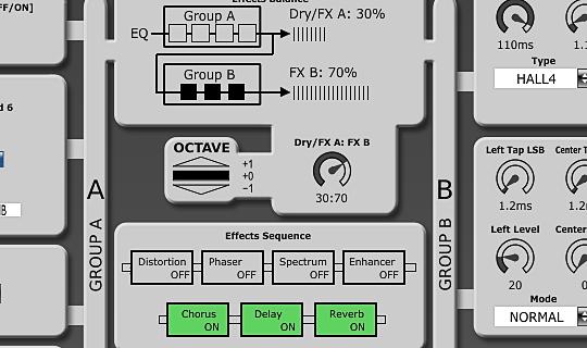 Effects controls