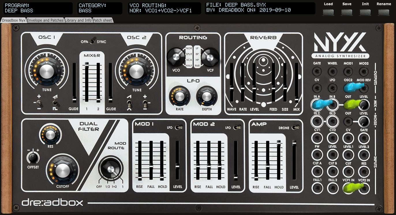 Dreadbox Nyx V2 patch mapper