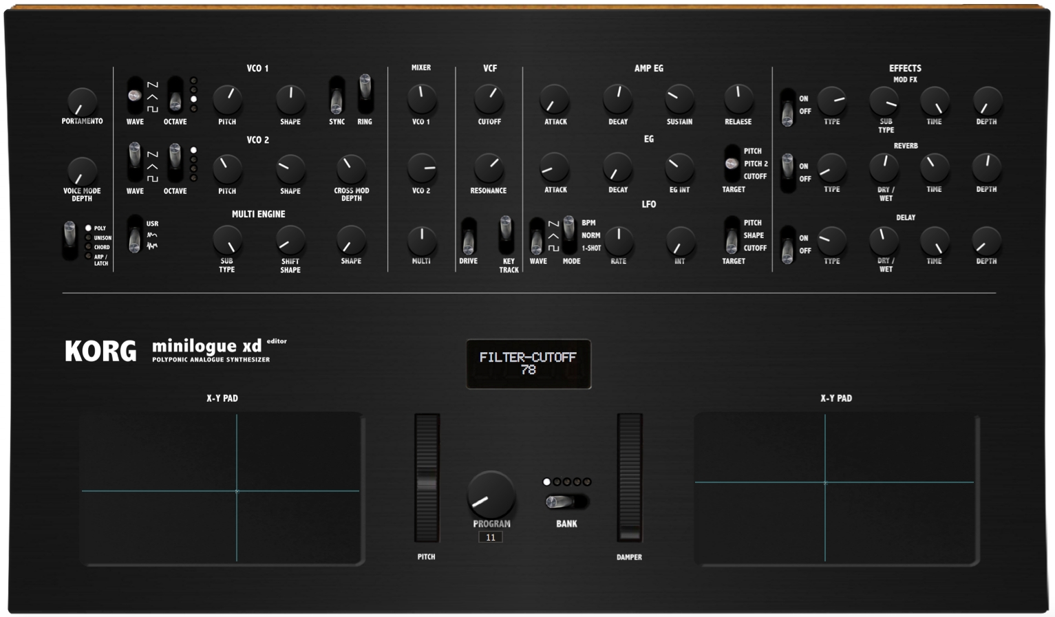 Korg Minilogue XD Editor and Controller, VST and Standalone