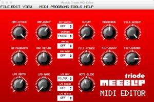 MeeBlip Triode MIDI Editor – VST/AU And Stand-alone
