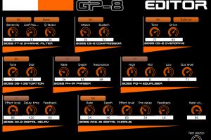 Roland GP-8 guitar effects processor panel