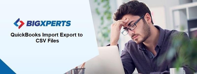 QuickBooks Import Export to CSV Files