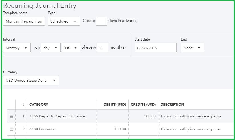 make-recurring-Journal-entry-schedule-2-