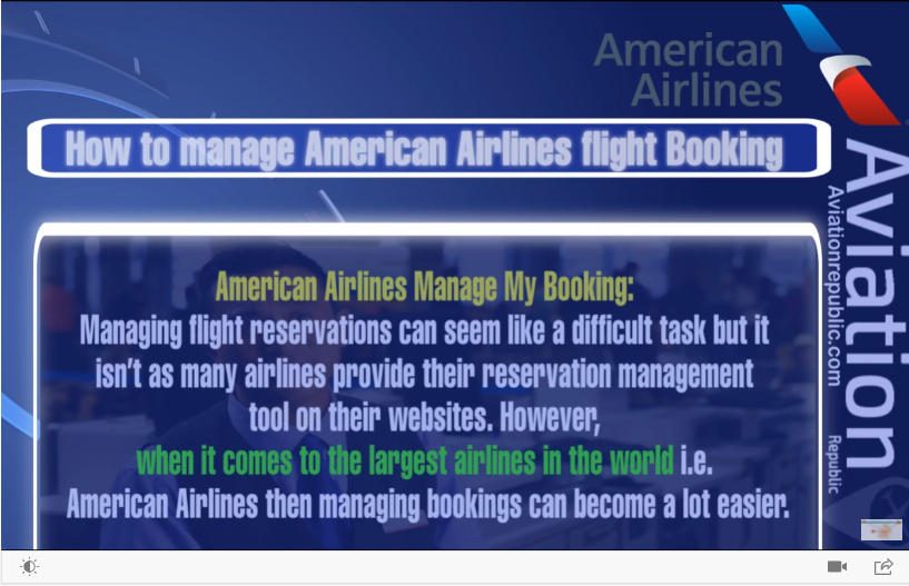 aa manage booking