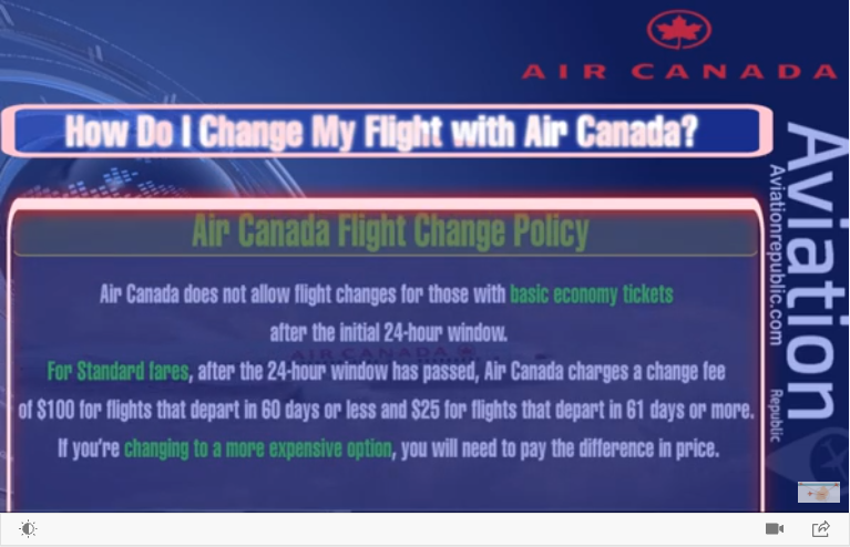 Change My Flight with Air Canada
